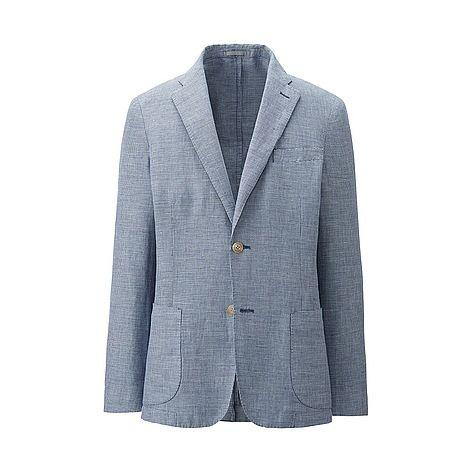 MEN Linen Cotton Slim Fit Jacket