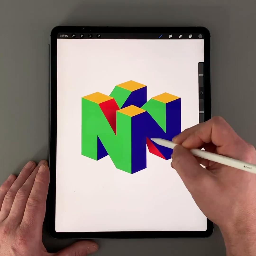 N64 Logo Video Logo Design Tutorial Logo Design Video Logo Design Inspiration Branding