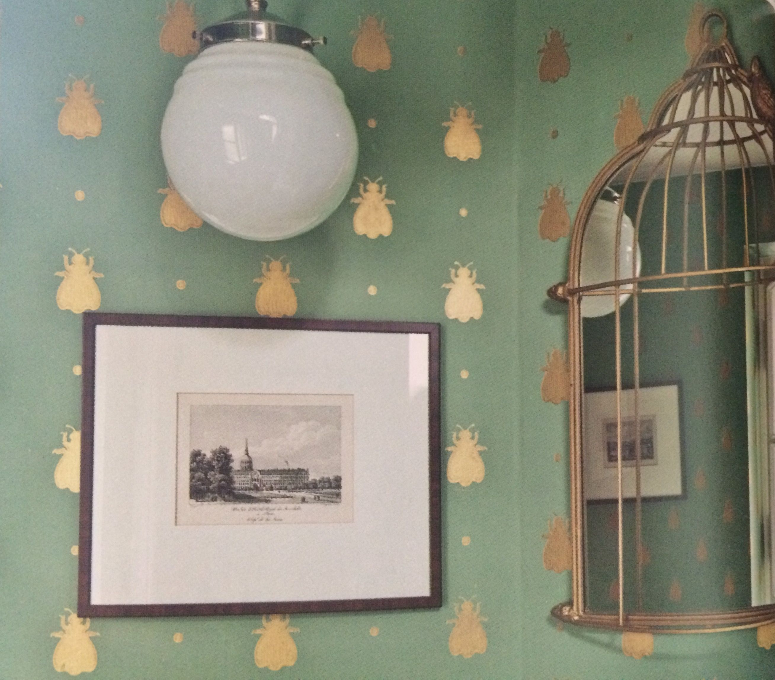 Bumble Bee wallpaper from Farrow & Ball Decorating in