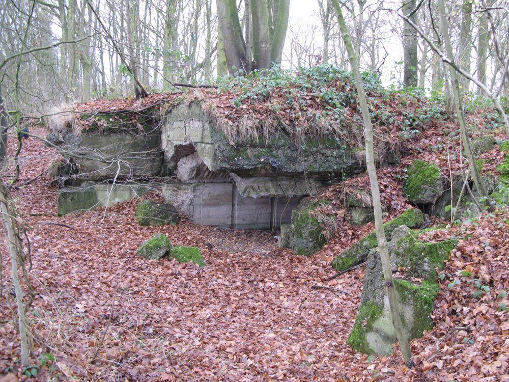 First World War German bunker in the Bois du Biez