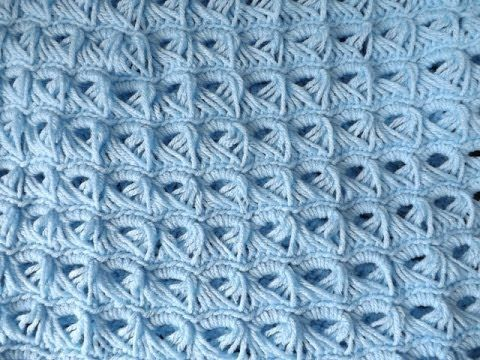 Crochet Baby Blanket (Broom Stick Stich).. - YouTube (Ruby Stedman ...