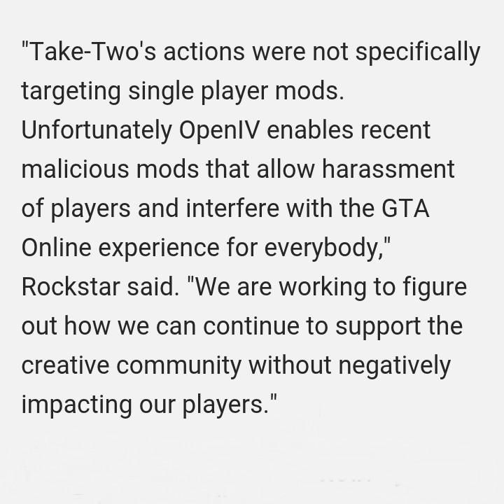 Rockstar Released A Statement After TakeTwoS Cease And Desist