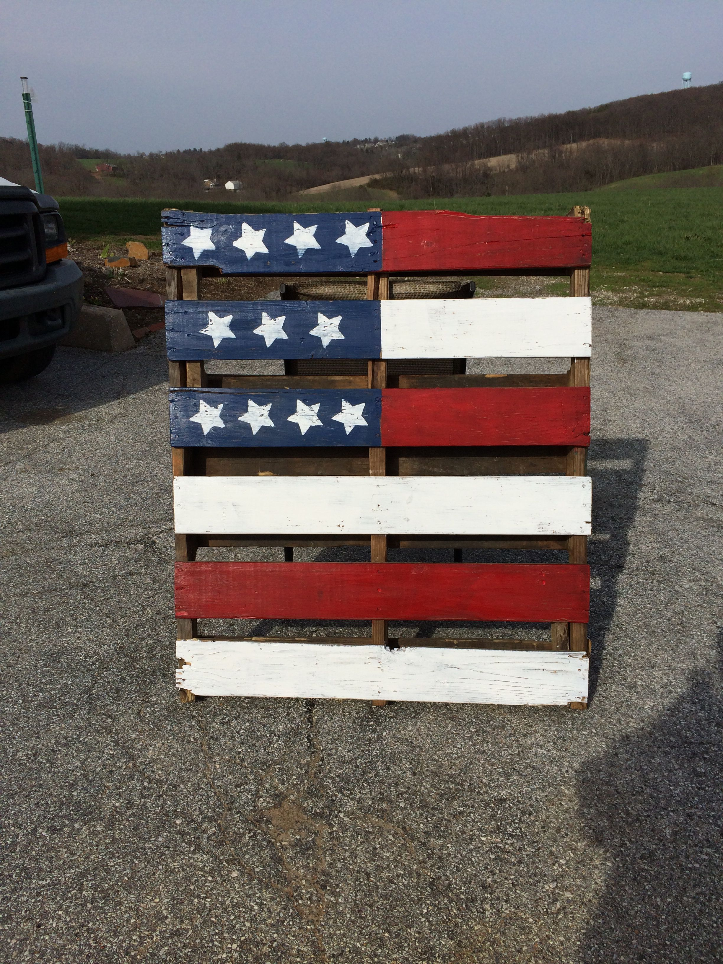 Pallet Skid Flag My Projects Projects Wood Crafts Pallet