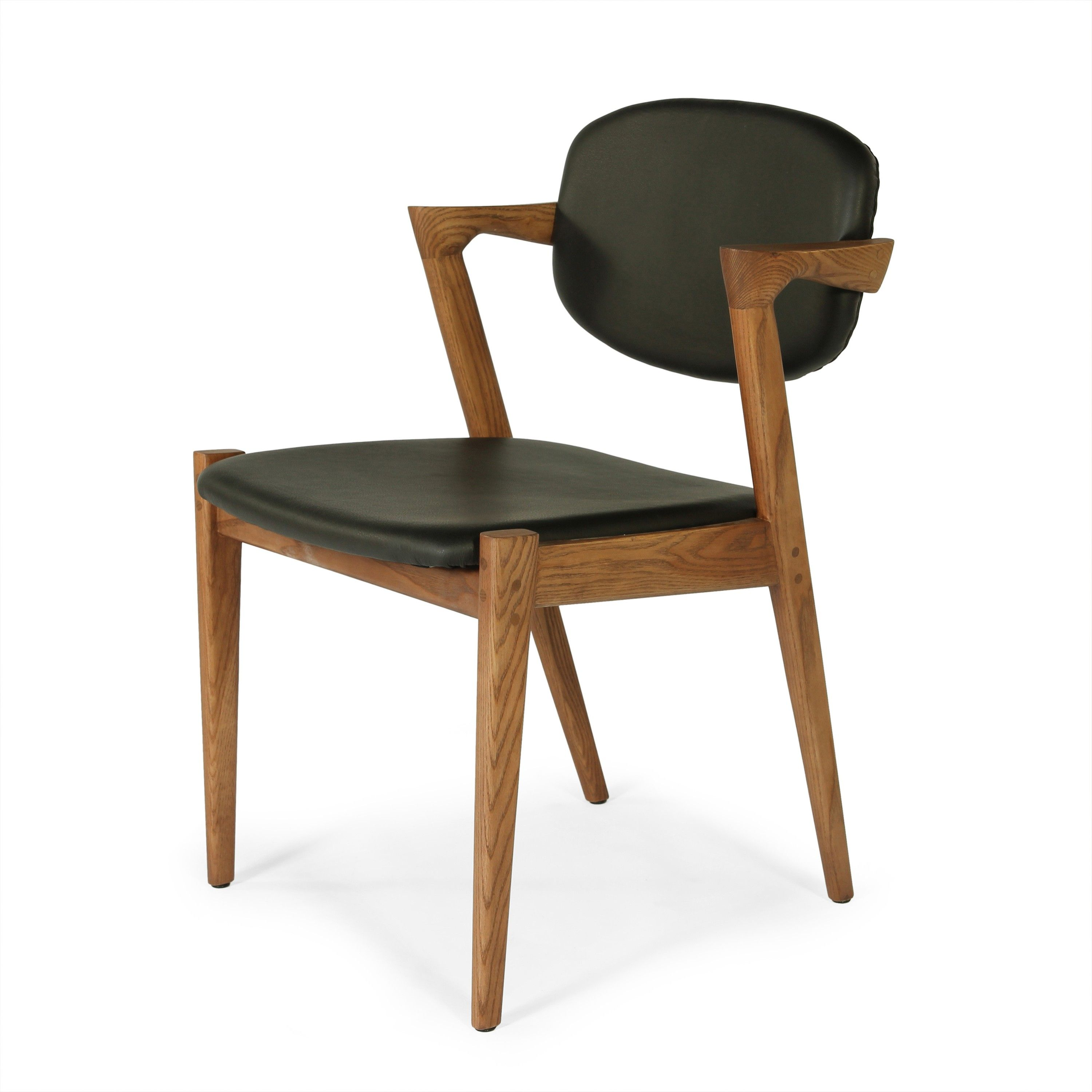 Model 42 Flap Back Dining Chair Black Leather Midcentury Modern Dining Chairs Dining Chairs Contemporary Dining Chairs
