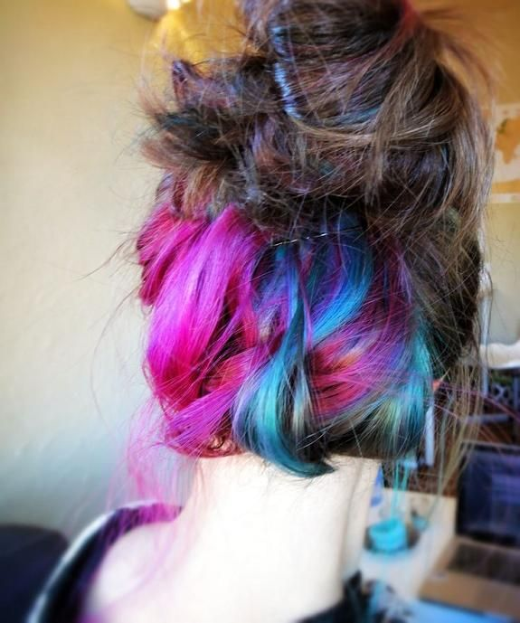 30 Glamorous Green Hair Styles Momooze Com 2: Pin Di Kayla Earwood Su Hair !