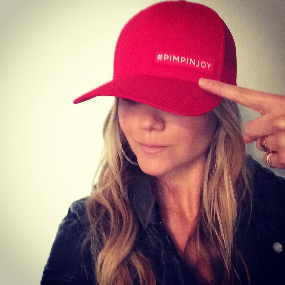 Red #pimpinjoy hats! On sale in 1 hr 10 min. shop http://bobbybones.com . Proceeds help families for Christmas.