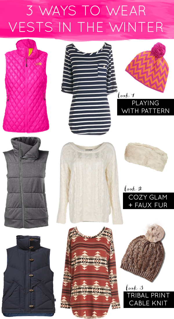3 Ways to Wear Vests in the Winter
