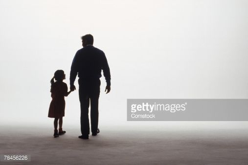 Simply does Dad with daughter walking