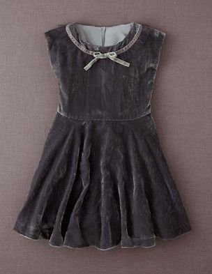 75554da034859 I've spotted this @BodenClothing Velvet Party Dress Mid Grey | Baby ...