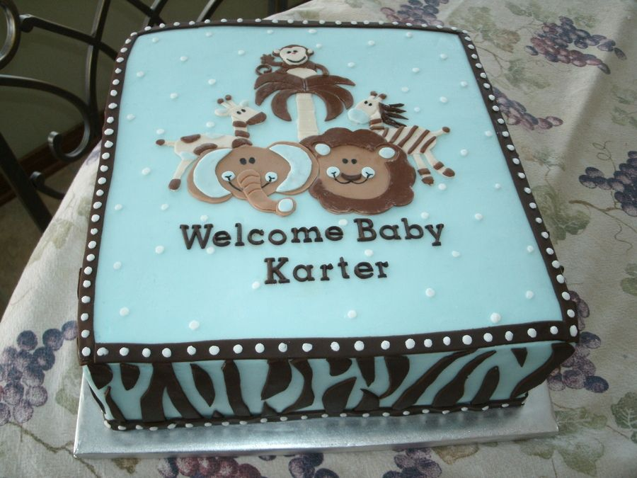BUTTER CREAM BABYSHOWWER CAKES | Safari Baby Shower Cake U2014 Baby Shower