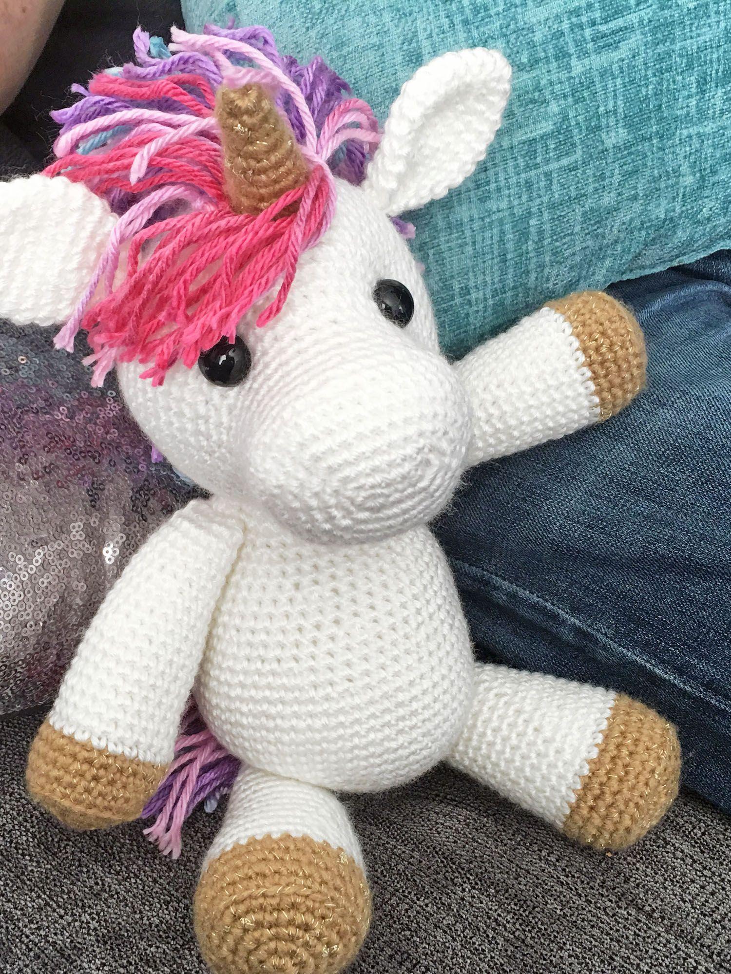 Jazzy the Unicorn Free Amigurumi Pattern | Tejidos | Pinterest ...