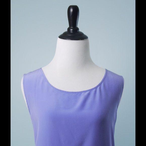 DIANE VON FURSTENBERG Lavender 100% Silk Top S DIANE VON FURSTENBERG Lavender Sleeveless 100% Silk Tunic Top Size Small Diane von Furstenberg Tops Tunics