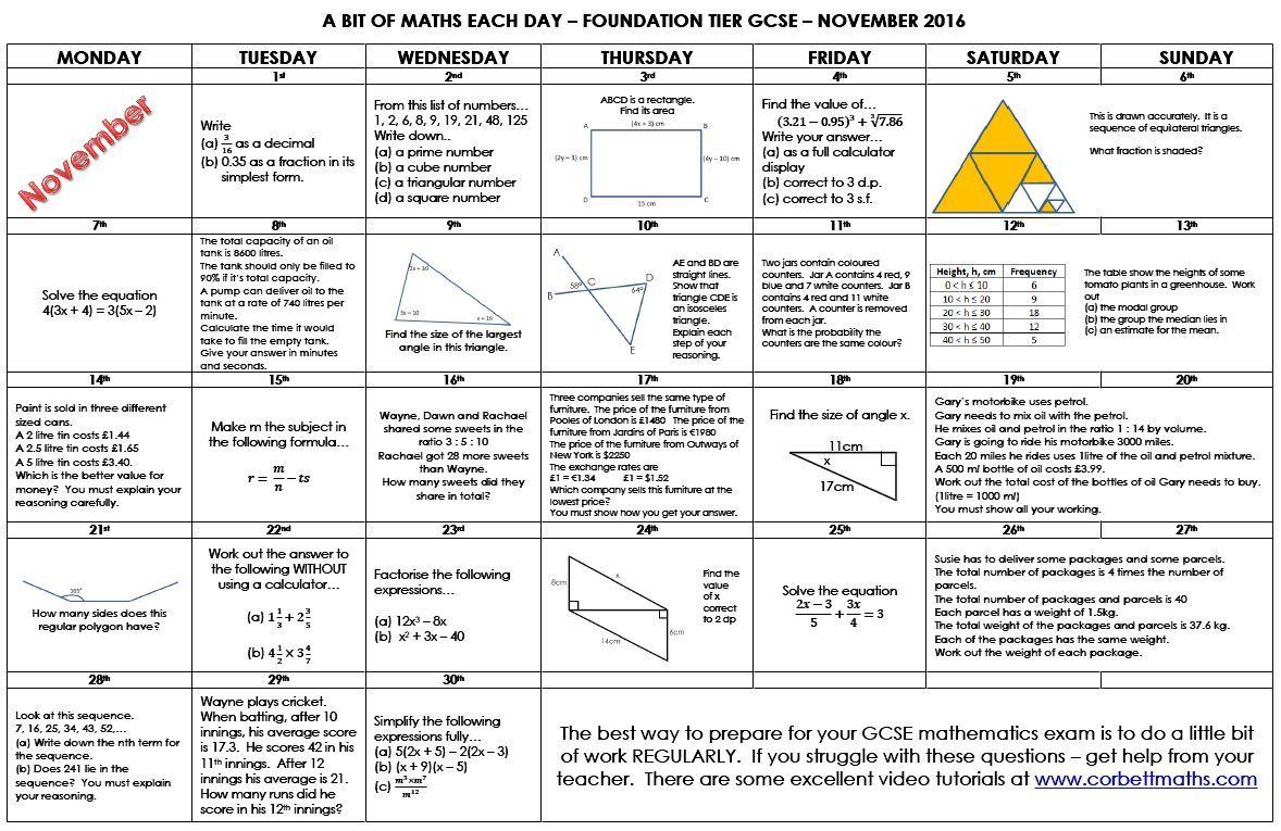 Fein GCSE Mathematik Stiftung Algebra Arbeitsblätter Bilder - Super ...