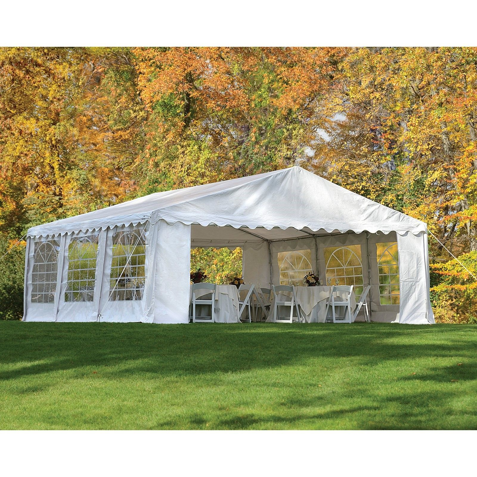 Costway 10 X20 Canopy Pavilion Cater Events Outdoor Party Wedding Tent Party Tent Backyard Wedding Outdoor