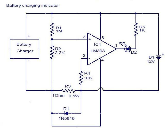 Battery Charging Indicator Circuit Elprocus Pinterest Circuit