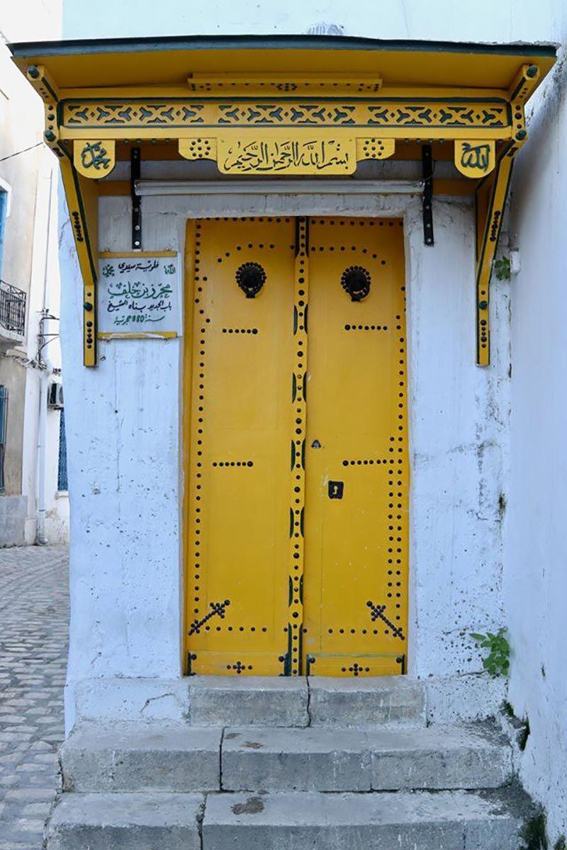 Tunisie Cote Mer La Porte De La Mosquee Sidi Mehrez Ben Khalaf A