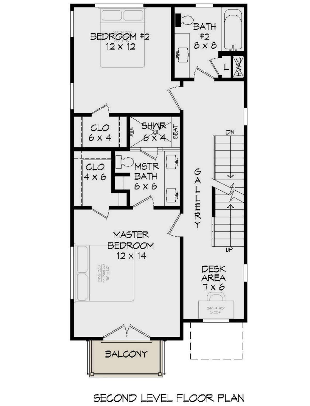 Modern Plan: 1,834 Square Feet, 2 Bedrooms, 3 Bathrooms - 940-00165