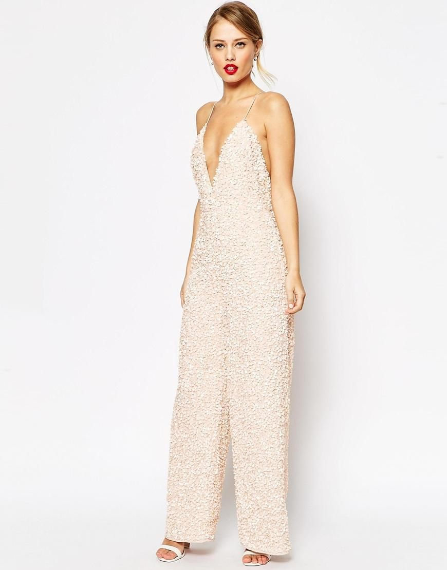 ASOS | ASOS Jumpsuit With All Over Sequin Embellishment at ASOS ...