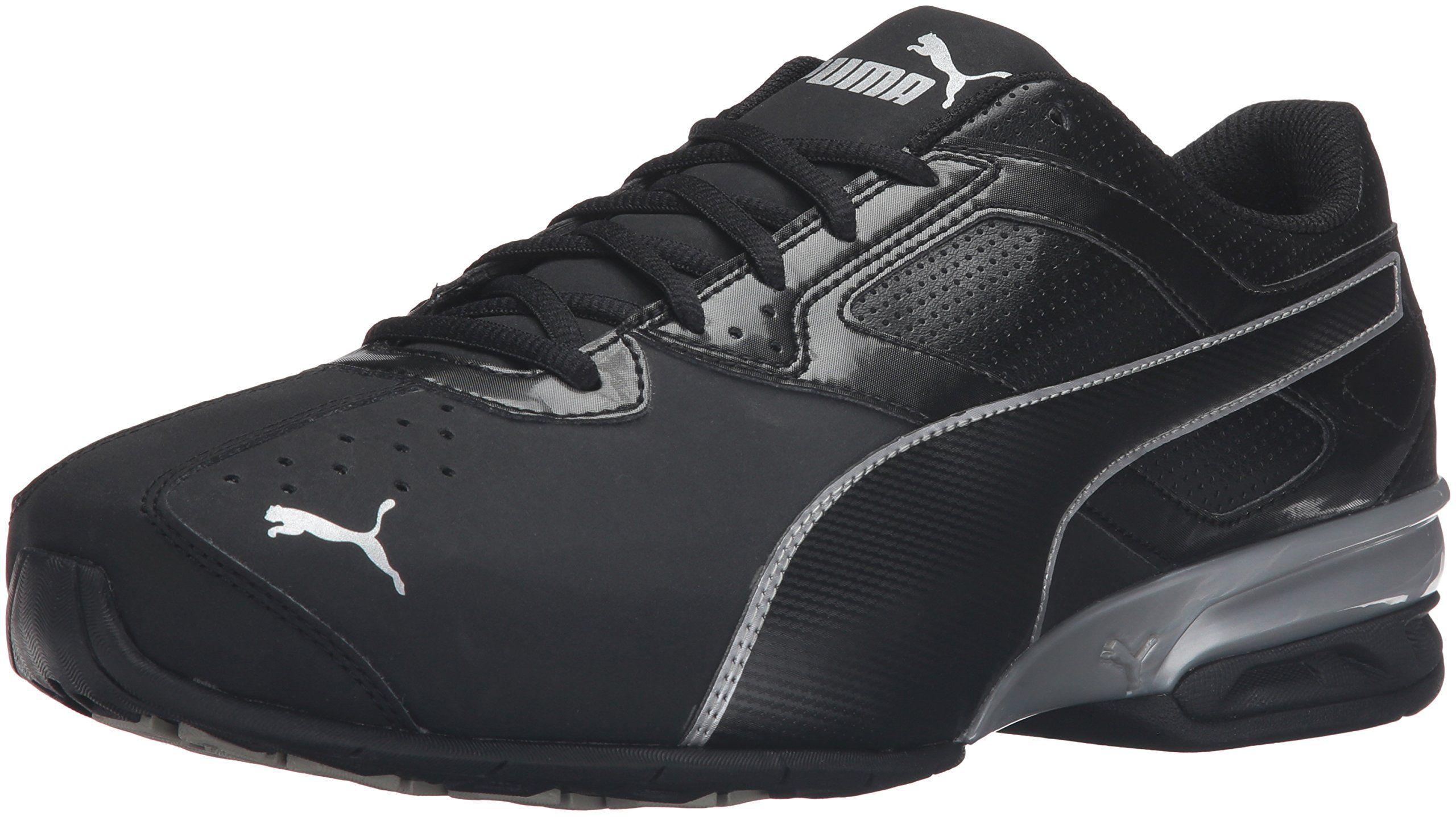 bb0603d85d2 PUMA Mens Tazon 6 FM Puma Black  Puma Silver Running Shoe 13 2E US --  Details can be found by clicking on the image. (This is an affiliate link)