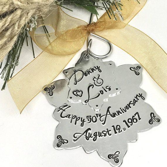 50th Wedding Anniversary Ornament 25th Gift Idea