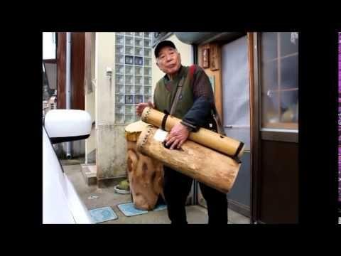 木鼓 【全て手作り】  半間  正 - YouTube