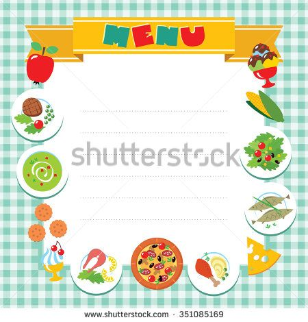 Cafe Or Restaurant Menu Vector Design Template Some Blank Space