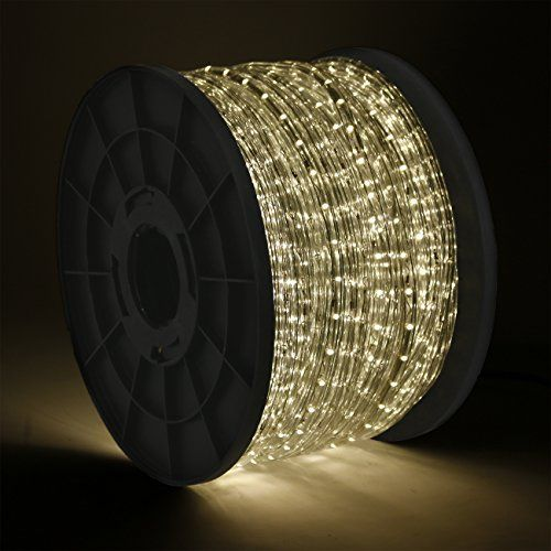 Onebigoutlet C 300 Feet Warm White Led Rope Light Ce With