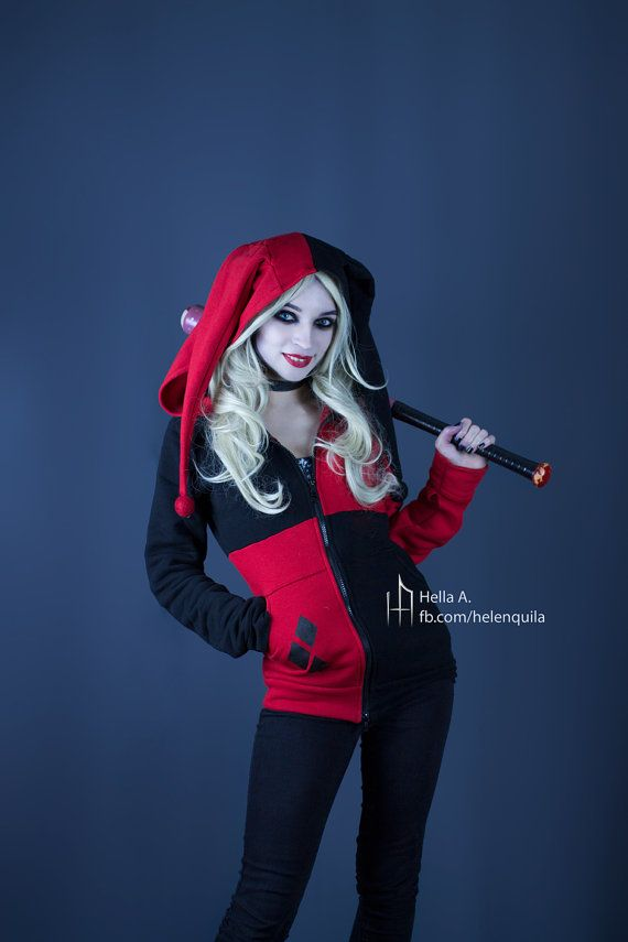 3d3d5c07ab2 Harley Quinn inspired hoodie by PixelStrix on Etsy