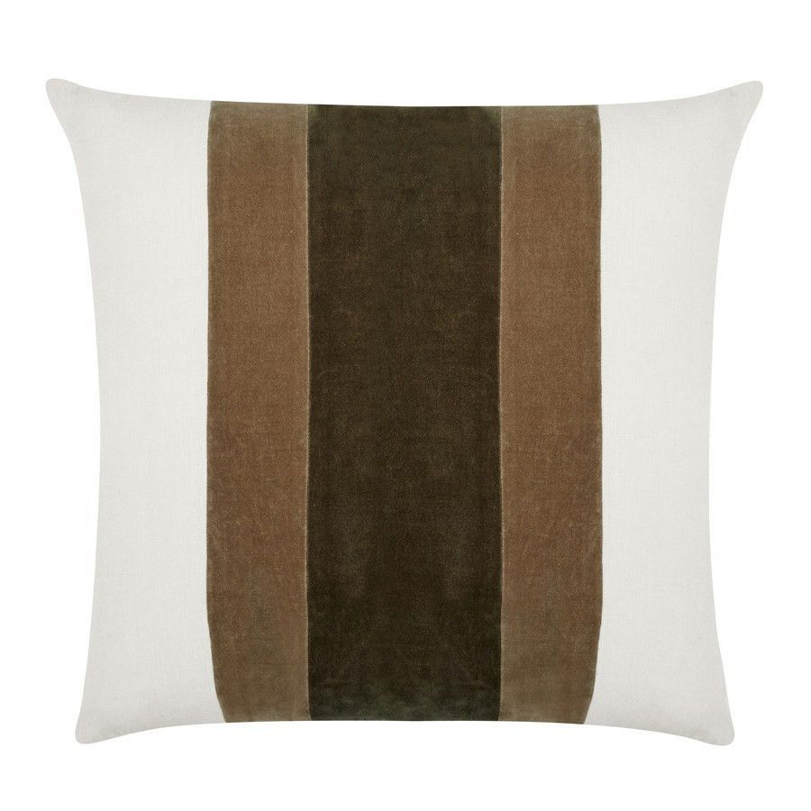 William chocolate velvet pillows and pillows