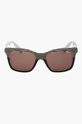 3f2fd41061 KENZO Black & White Striped Combo Rectangular Sunglasses Comprar Óculos De Sol  On-line,