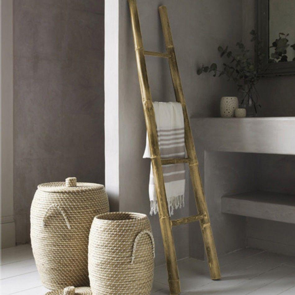 Chelles de bambou sur pinterest chelles porte - Echelle porte serviette bambou ...