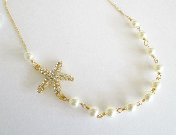 Hey, I found this really awesome Etsy listing at https://www.etsy.com/listing/460876654/starfish-bridal-necklacerhinestone