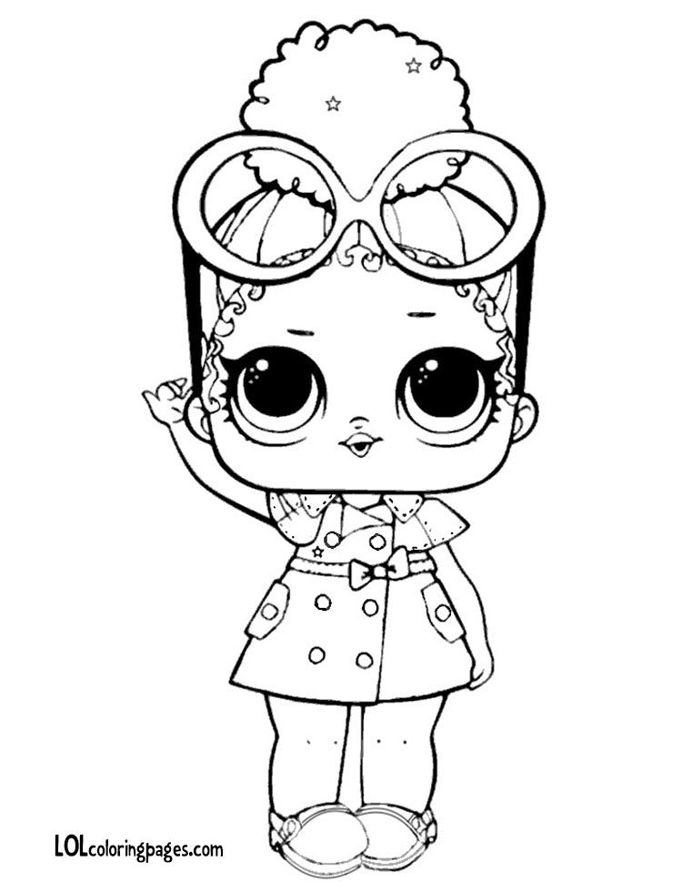 Boss Queen Series 3 Coloring Page Coloring Pages Lol Dolls