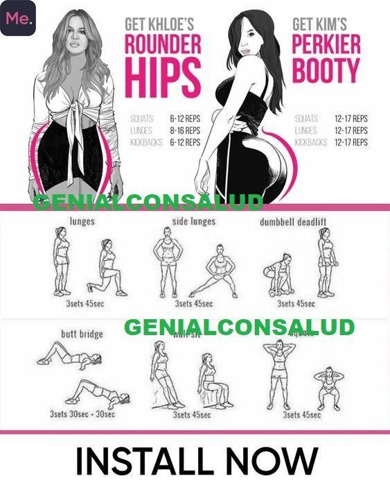 Wie Sie Ihren Hintern runder und die Hüften breiter machen - Yoga & Fitness #fitnesshealth