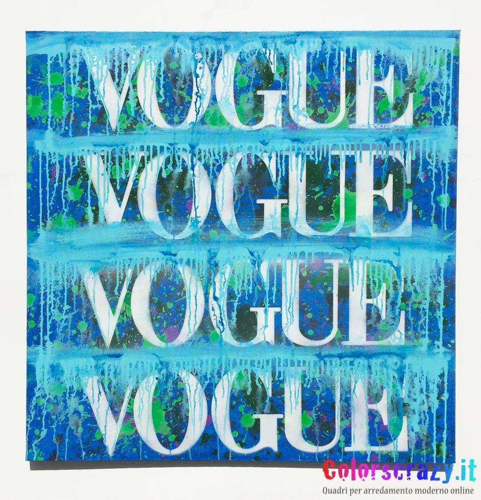 Quadro per arredamento moderno Vogue . Acquista su www.colorscrazy ...