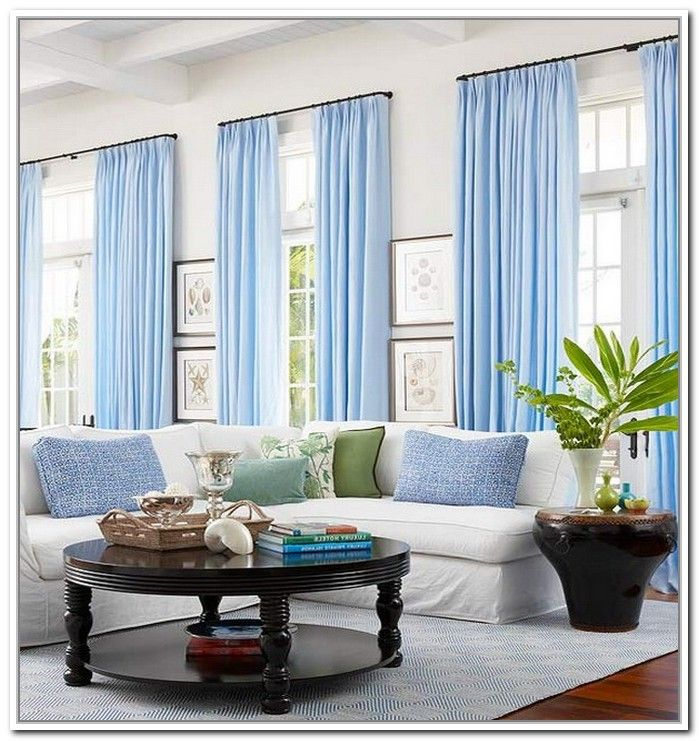 Light Blue Curtains Living Room | Projects to Try | Pinterest | Blue ...