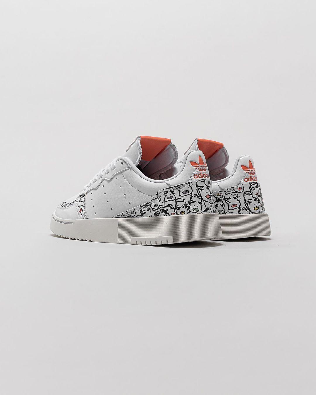 adidas Originals x Fiorucci Supercourt Sneaker in bunt
