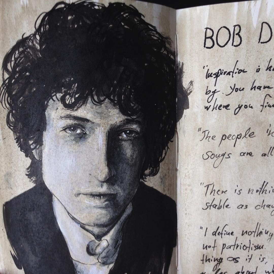 A page for Bob Dylan, my poetic idol.