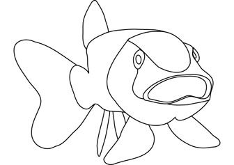 Download Free Bigmouth Fish Coloring Page Fish Coloring Page Fish Drawings Coloring Pages