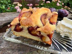 Pflaumenkuchen mit Buttermilch - Aus meinem Kuchen und Tortenblog #homemadesweets