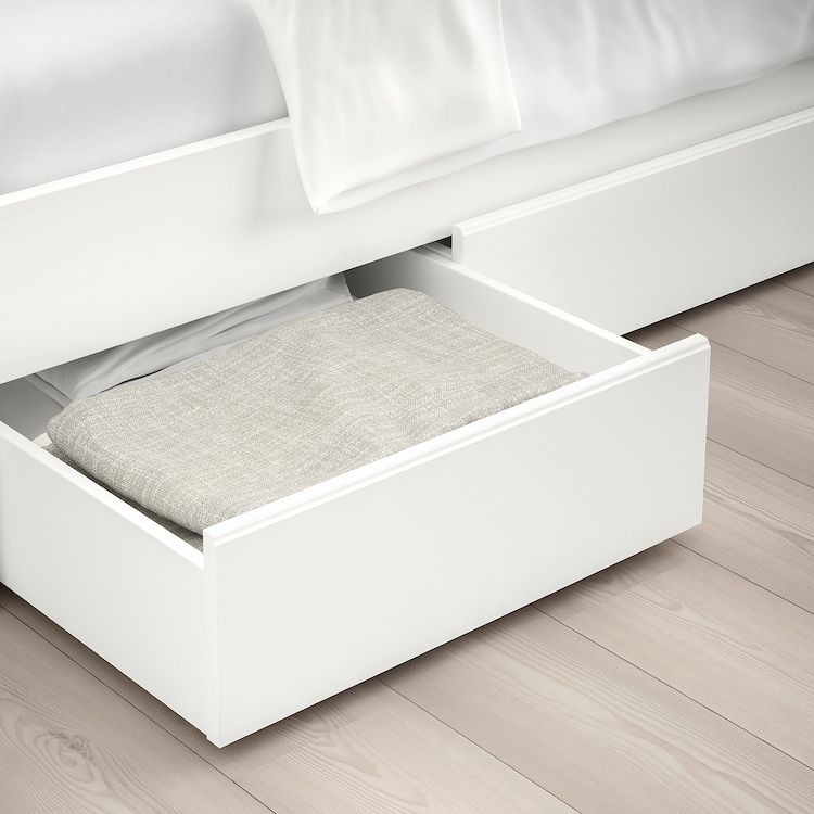 SONGESAND Bed frame with 2 storage
