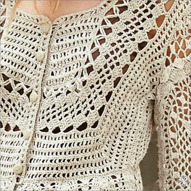LINDA BLUSA EM CROCHÊ COM GRÁFICOS | Blusas, Blusas de crochet y Tejido