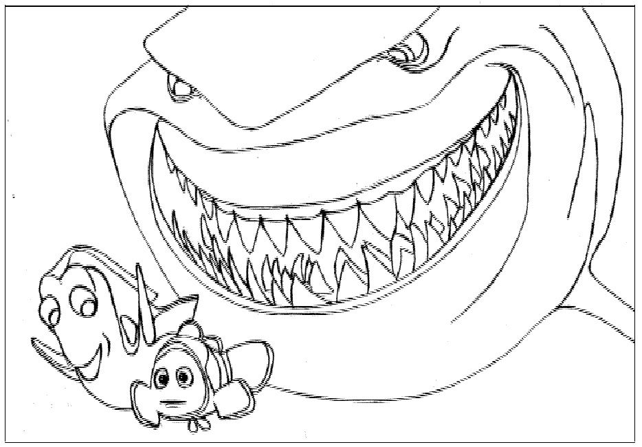 Bruce The Shark Finding Nemo Coloring Pages Shark Coloring Pages