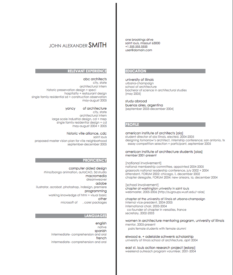 """Resume. I like the way they just put """"proficiency"""" and"""