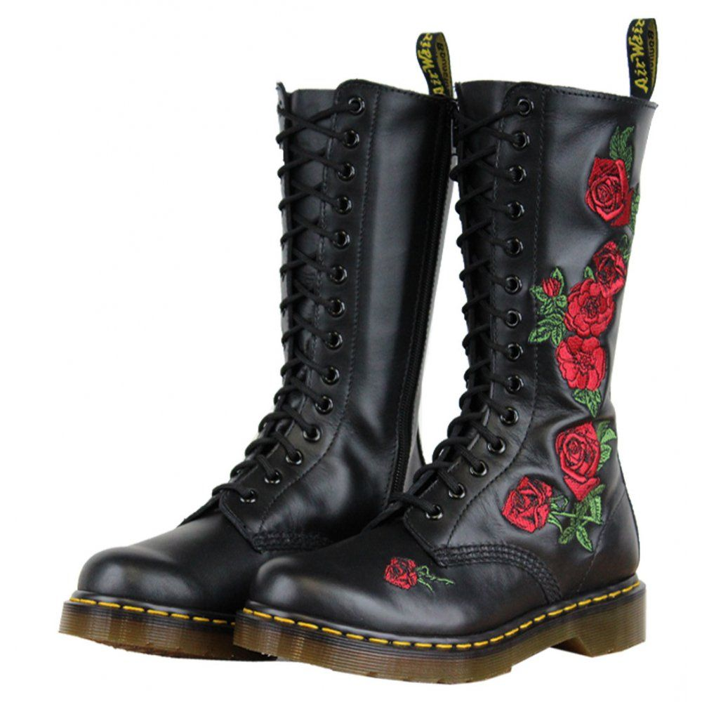 Image result for dr martens with roses