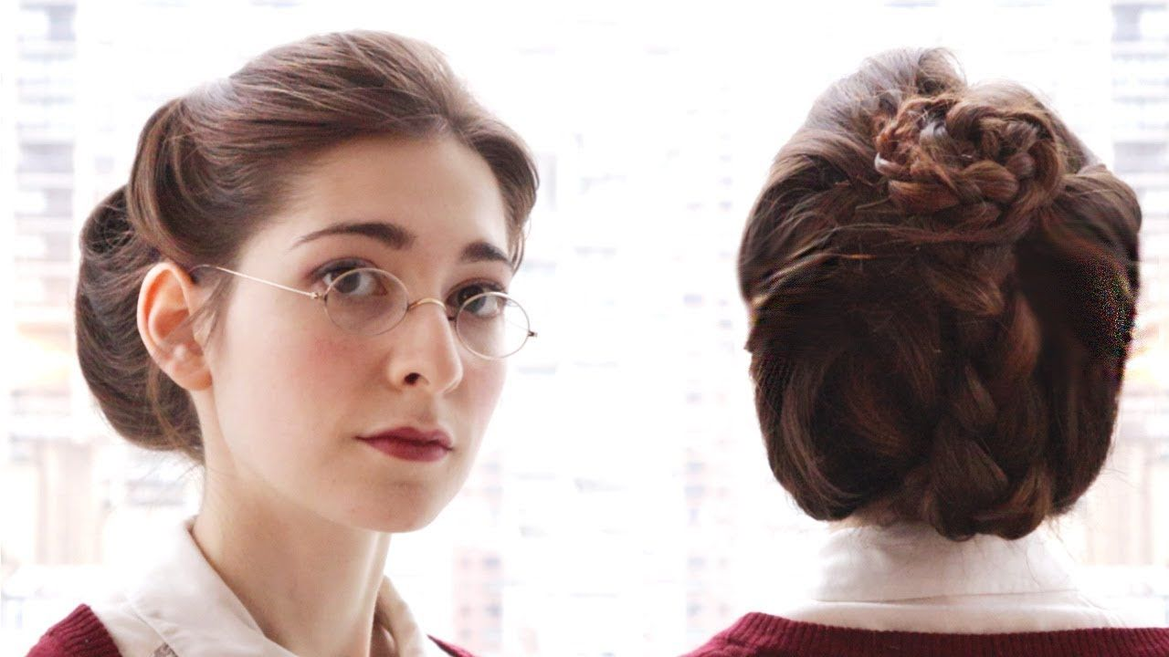 An Everyday Victorian-Style Updo - YouTube  Victorian hairstyles