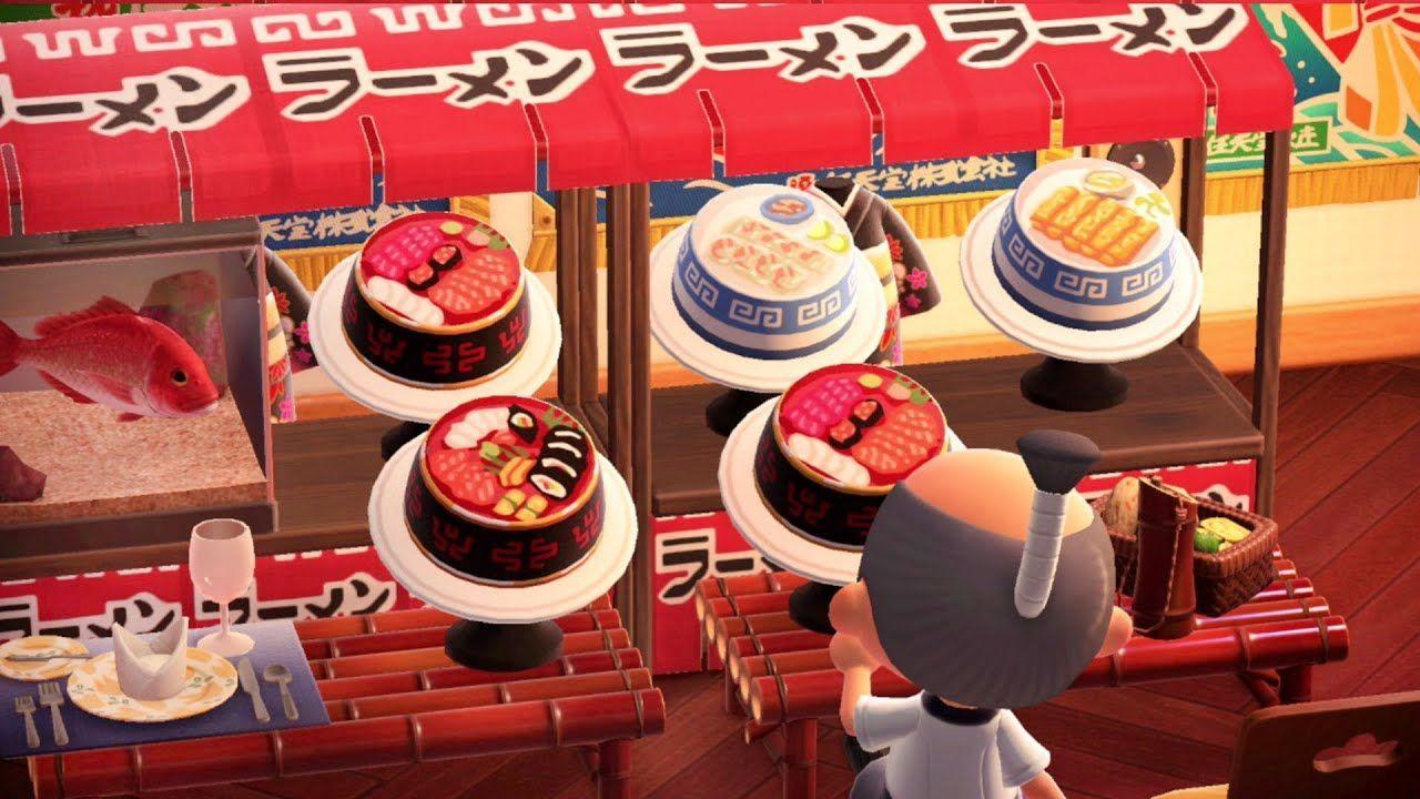 Boardwalk Bazaar Design & Sushi Buffet! Animal Crossing New Horizons Design Ideas