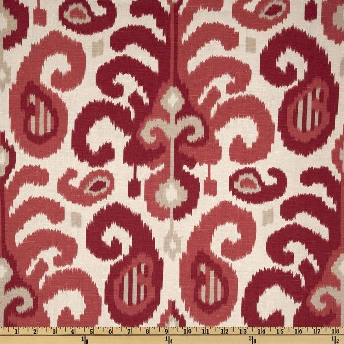 Ikat Home Decor Fabric: Suburban Ikat Rasul Berry - Duralee