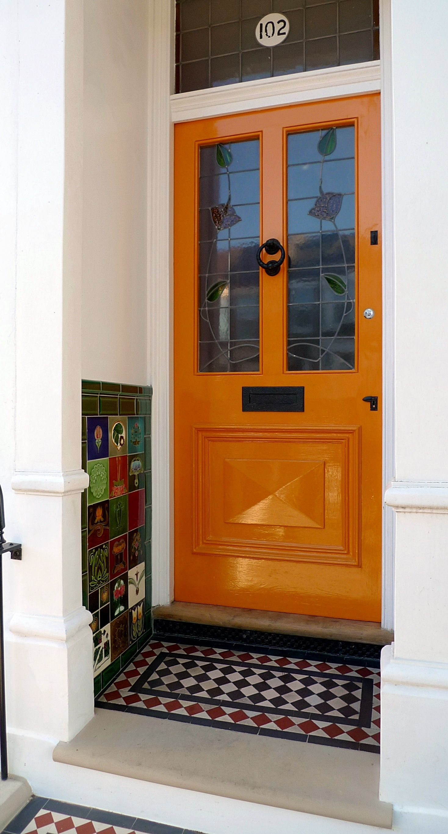 Beautiful, Victorian, Orange #FrontDoor in London | house exterior ...
