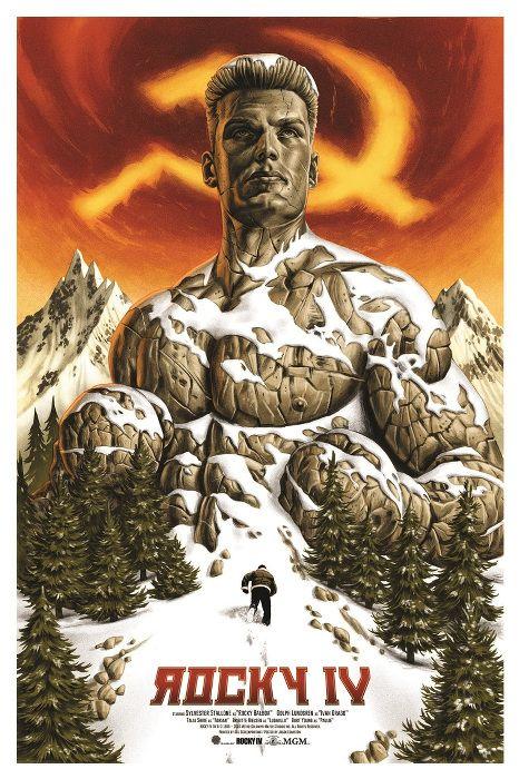 ROCKY BALBOA VS Ivan Dragon ROCKY 4 POP ART Affiche Poster Artistique